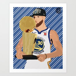 Steph Curry 3 time champion Art Print