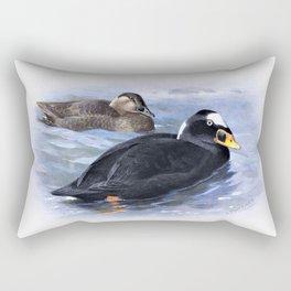 Archibald Thorburn - Surf-Scoter - Digital Remastered Edition Rectangular Pillow