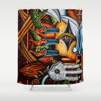 potato Shower Curtains featuring Sweet Potato by Thom Whalen