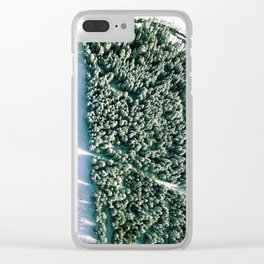 Trees below Clear iPhone Case