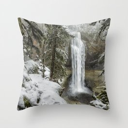 Salt Creek Falls, Another View Throw Pillow