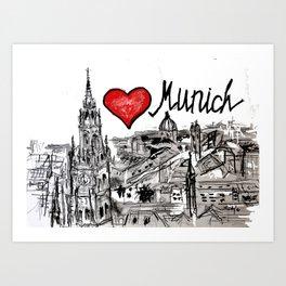 I love Munich Art Print