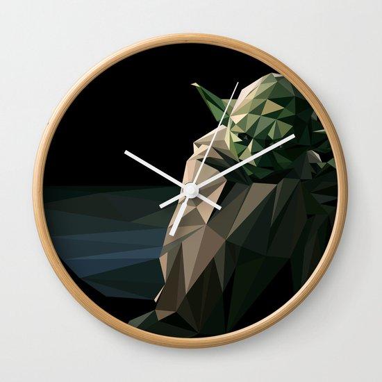 Geometric Yoda Wall Clock