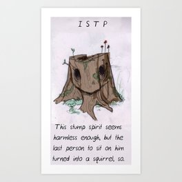 MBTI GHOSTS AND GHOULS - ISTP Art Print