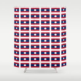 flag of Laos -Muang Lao,ເມືອງລາວ ,laotien,lao,ventiane,Lan Xang Hom Khao Shower Curtain