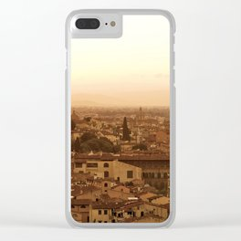 Florence skyline At Sunset Clear iPhone Case