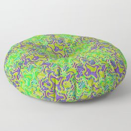 Polyp Green - Coral Reef Series 015 Floor Pillow