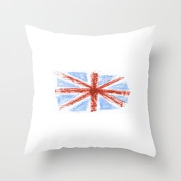 Flag of UK 9- London,united kingdom,england,english,british,great britain,Glasgow,scotland,wales Throw Pillow