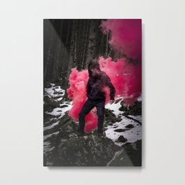 Black Ape in the woods Metal Print