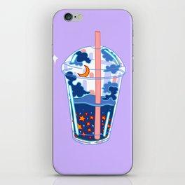 Space boba tea iPhone Skin
