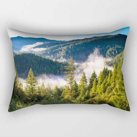 Smoke on the Mountains Rectangular Pillow