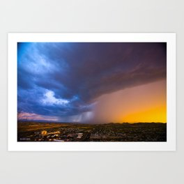 Monsoon Coming Art Print