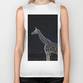 The giraffe in the night Biker Tank