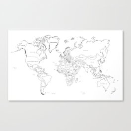 Paint your World Map Canvas Print
