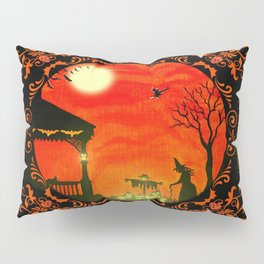 """""""Heading Home"""" Halloween art print Pillow Sham"""