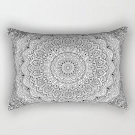 Black and white Lace mandala light Rectangular Pillow