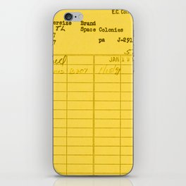 Library Card 797 Yellow iPhone Skin