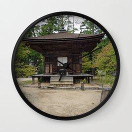 old shrine on Mount Koya Wall Clock