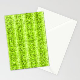 Green Snake Skin Animal print Wild Nature Stationery Cards
