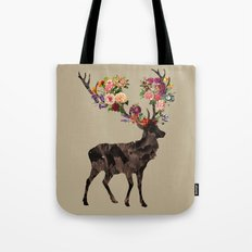 Spring Itself Deer Flower Floral Tshirt Floral Print Gift Tote Bag
