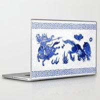 bouletcorp Laptop & iPad Skins featuring Utahraptor Hunt by Bouletcorp