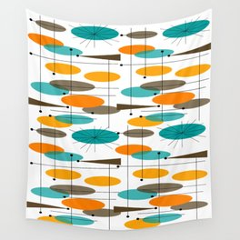 Mid-Century Modern Ovals Abstract II Wall Tapestry