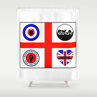 60s Shower Curtains featuring Brit music 60s 70s by MasterChef-FR