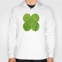 green pattern Hoodies featuring Green by Artemio Studio