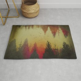 Mirrored Distorted Landscape Rug