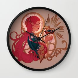 Enby royalty Wall Clock