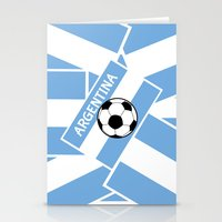 argentina Stationery Cards featuring Argentina Football by mailboxdisco