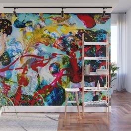 desolidify — break habits — abstract art — experimental Wall Mural