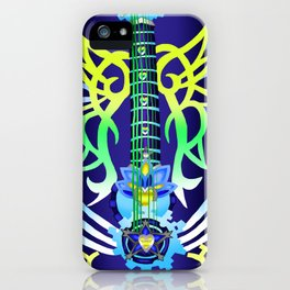 Fusion Keyblade Guitar #200 - Ultima Weapon & Dual Disk iPhone Case