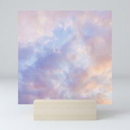 Pink sky / Photo of heavenly sky Mini Art Print
