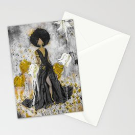 Dear Queen Black and Gold Stationery Cards