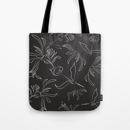 Hand Drawn Floral Tote Bag