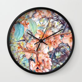 Aquarell Floral 05 Wall Clock