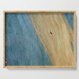 Eucalypus Turquoise Wood Serving Tray