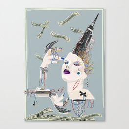 Ayn Rand' s capitalist bitch Canvas Print