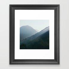 Hazy Days in Mountain Ranges Framed Art Print