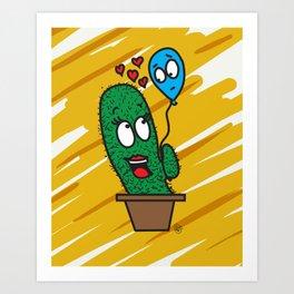 Spiky love Art Print