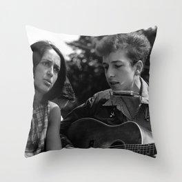 Bob Dylan Vintage Throw Pillow