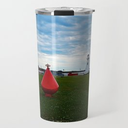 Marker Buoy and Lighthouse Travel Mug