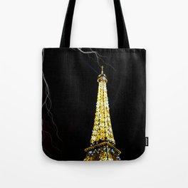 Eiffel Tower Lightning Tote Bag