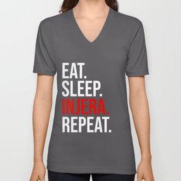 Eat Sleep Injera Repeat print Habesha Ethiopian Gift Idea product Unisex V-Neck