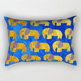 Golden elephant ecopop Rectangular Pillow