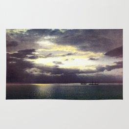 Vintage Sunset Waters : St Lawrence River 1901 Rug