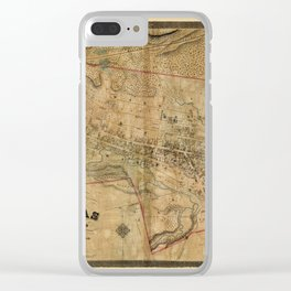 Map Of Dundas 1851 Clear iPhone Case