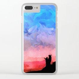 Bembridge Sunset Clear iPhone Case