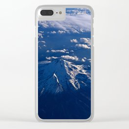 Mt. Hood Aerial Clear iPhone Case